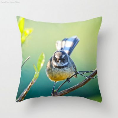 Nature Me Now - Fantail S6 Throw Pillow
